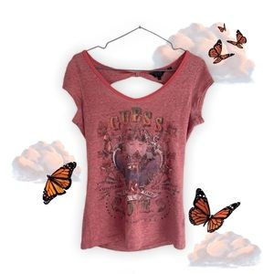 Guess Fitted V-Neck T